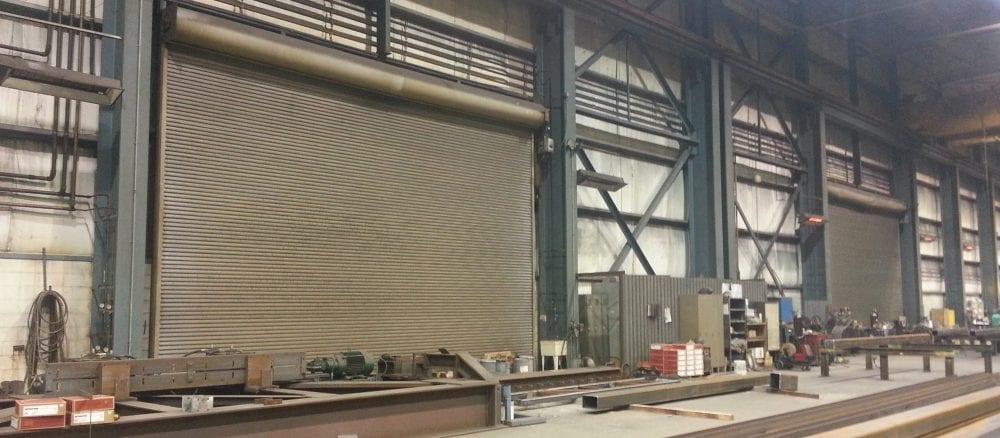 Large Rolling Steel Garage Door Repair